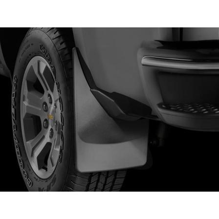 WeatherTech MF120035 - No Drill MudFlaps - Black - REAR MUD FLAP SILVERADO 1500 14-18