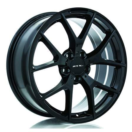 RTX Alloy Wheels ARROW 18X8 5-112 45P C66.6 SATIN BLACK - AutoPartsDistrict