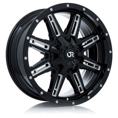 RTX Offroad Alloy Wheels RAVINE 20X9 8-170 15P C125 BLACK MILLED - AutoPartsDistrict