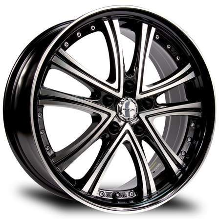 RTX Alloy Wheels ALLURE 17X7 5-114.3 45P C73.1 BLACK MCH - AutoPartsDistrict