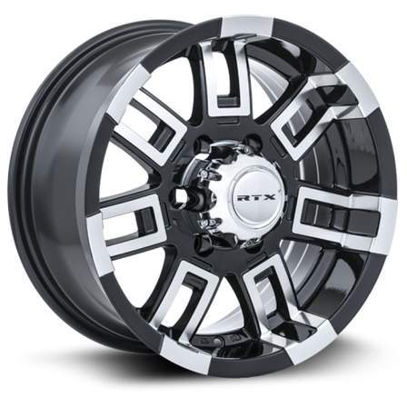 RTX Offroad Alloy Wheels CRUSH 16X8 6-139.7 12P C108 BLACK MCH - AutoPartsDistrict