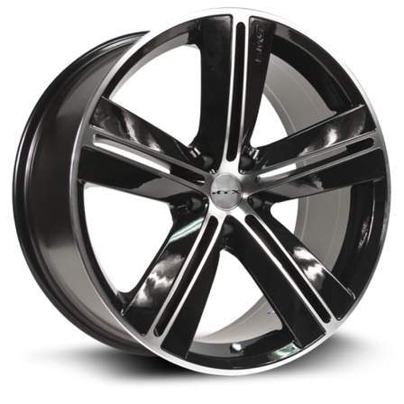 RTX Alloy Wheels SMS 17X7.5 5-115 20P C71.5 BLACK MCH - AutoPartsDistrict