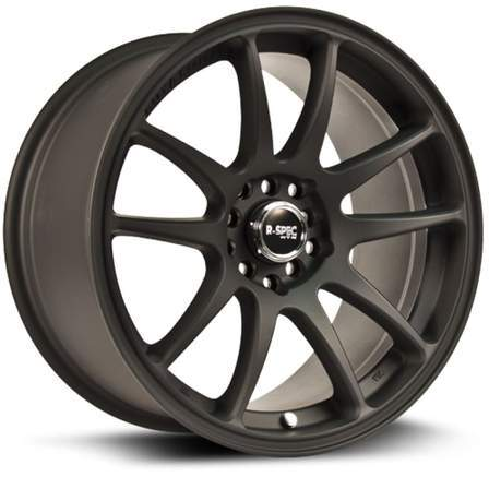 RTX R-Spec Alloy Wheels STAG 17X8 5-100/114.3 35P C73.1 MATTE BLACK - AutoPartsDistrict