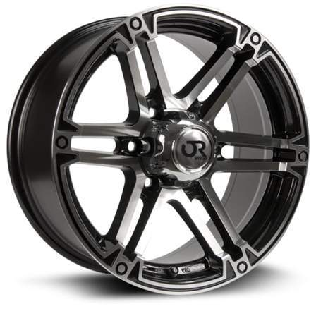 RTX Offroad Alloy Wheels SLATE 17X8 6-120 12P C67.1 BLACK MCH - AutoPartsDistrict