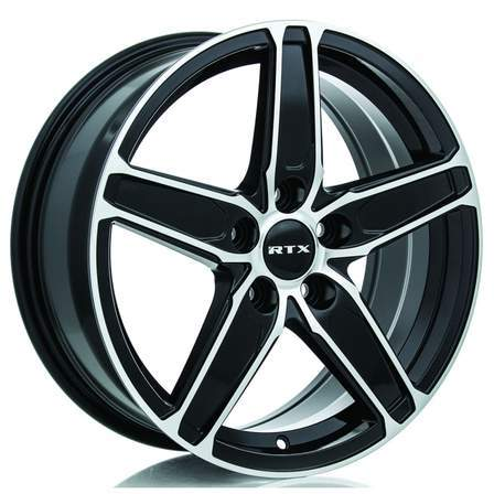 RTX Alloy Wheels FROST 18X8 5-114.3 45P C56.1 BLACK MCH - AutoPartsDistrict