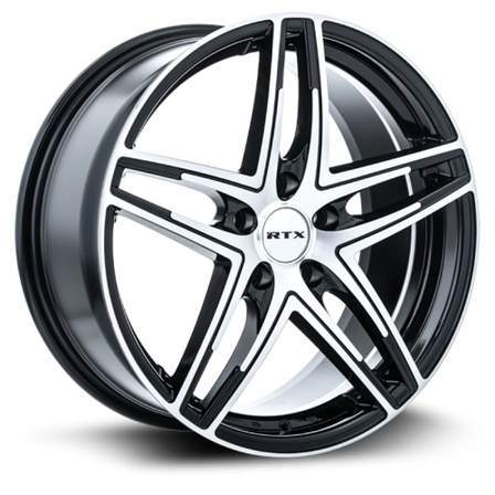 RTX Alloy Wheels PARALLEL 17X7.5 5-112 42P C66.6BLACK MCH - AutoPartsDistrict
