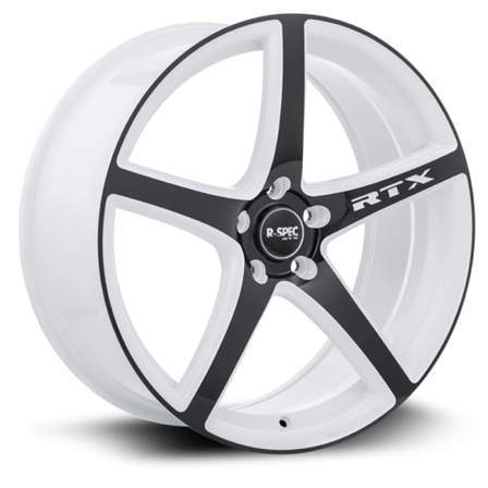RTX R-Spec Alloy Wheels ILLUSION 17X7.5 5-114.3 45P C73.1 WHITE - BLACK FACE - AutoPartsDistrict