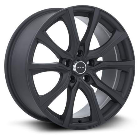 RTX Alloy Wheels CONTOUR 17X7.5 5-108 40P C63.4 MATTE BLACK - AutoPartsDistrict