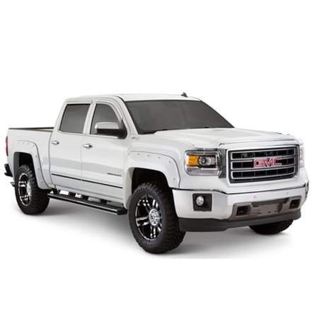 Bushwacker Rocker Panels & Fender Flares POCKET STYLE SIL.1500/HD 14-18 - AutoPartsDistrict