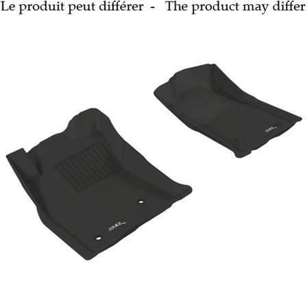 U-GUARD Molded Floor Mats FL-1406BK1.LINER SILV/SIER D/C 14-18 by U-Guard - AutoPartsDistrict