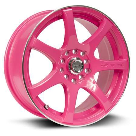 RTX Alloy Wheels INK 15X6.5 4-100/114.3 40P C73.1 DIVA (PINK MCH) - AutoPartsDistrict