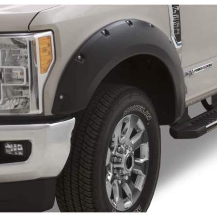 Bushwacker Rocker Panels & Fender Flares POCKET F/F FORD SD 17-18 (4) - AutoPartsDistrict