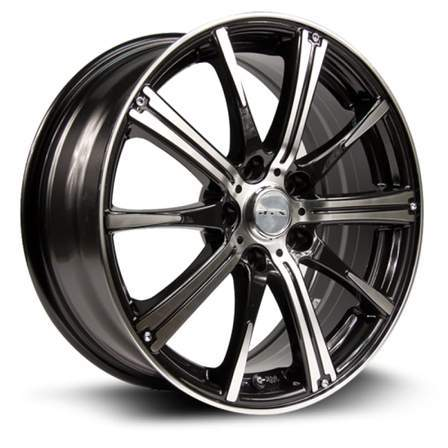 RTX Alloy Wheels SPARK 16X6.5 5-105.40P C56.6.BLACK MCH - AutoPartsDistrict