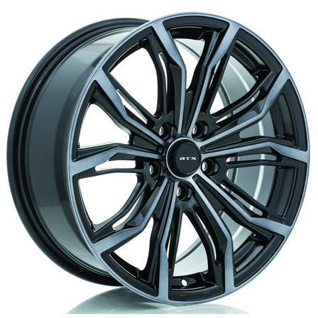 RTX Alloy Wheels BLACK WIDOW 18X8 5-108 40P C63.4 BLACK - MCH GREY - AutoPartsDistrict