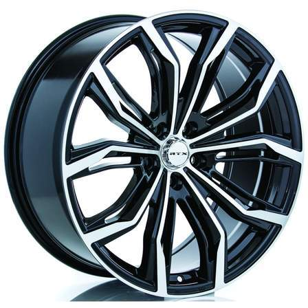 RTX Alloy Wheels BLACK WIDOW 17X7.5 5-100 40P C73.1 BLACK MCH - AutoPartsDistrict