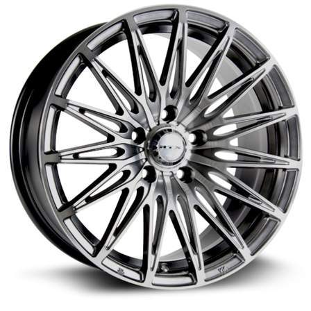RTX Alloy Wheels CRYSTAL 17X7.5 5-114.3 38P C73.1 HYPER BLACK MCH - AutoPartsDistrict