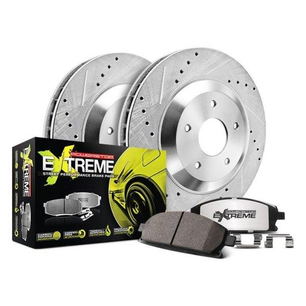 Power Stop® Performance Brake Kits Power Stop® 1-Click Street Warrior Z26 Drilled and Slotted Brake Kit - AutoPartsDistrict