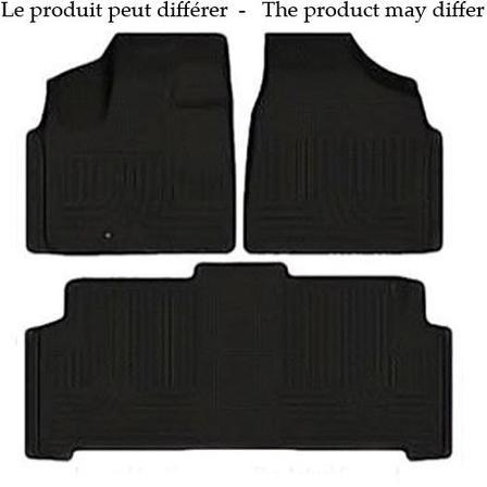 Husky Liners Molded Floor Mats Husky Liners 98211 - Front & 2nd Seat Floor Liners (Footwell Coverage) - Weatherbeater - Black - SILVERADO/SIERRA EXT 07-13 - AutoPartsDistrict