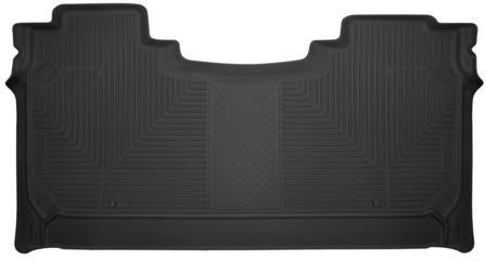 Husky Liners Molded Floor Mats Husky Liners 54601 - 2nd Seat Floor Liner (Full Coverage) - X-act Contour - Black - 2019 RAM 1500 - AutoPartsDistrict