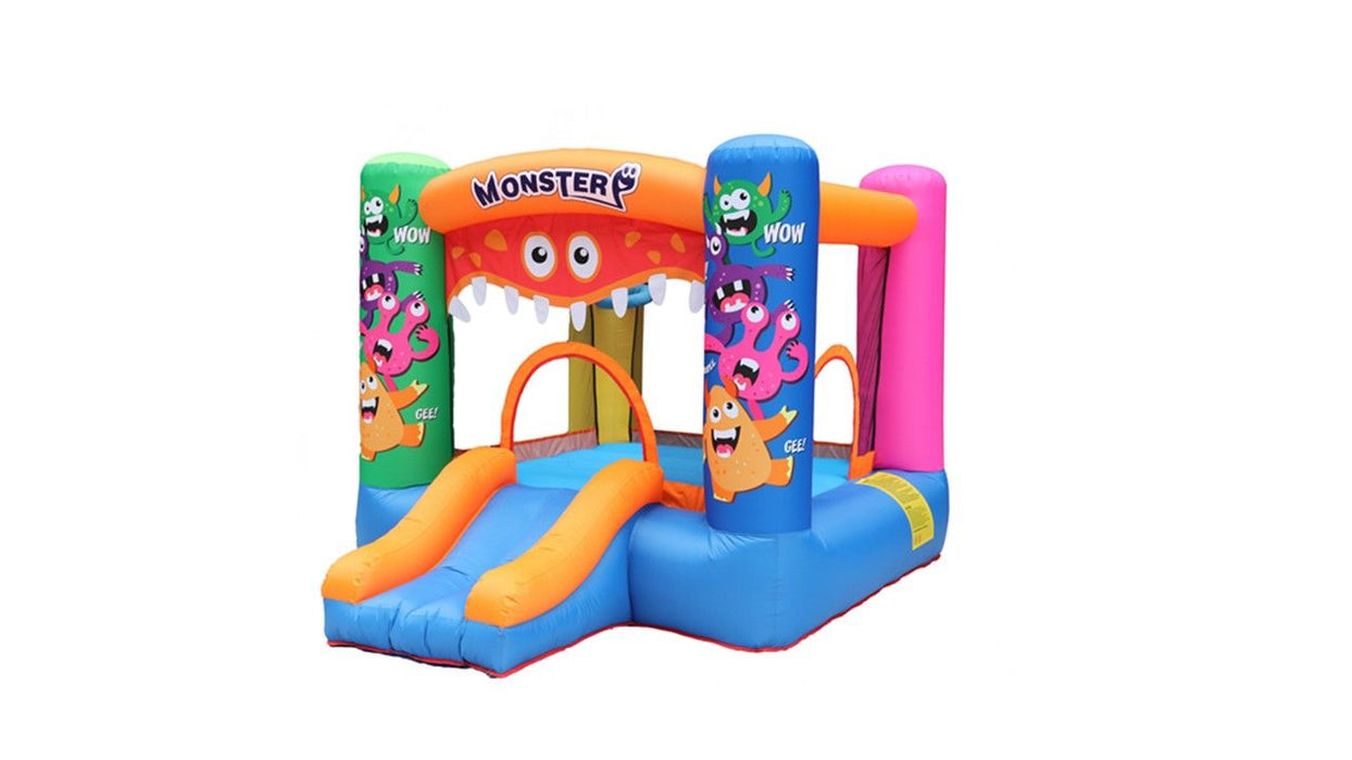 INFLATABLE GAME BOUNCER WITH SLIDE