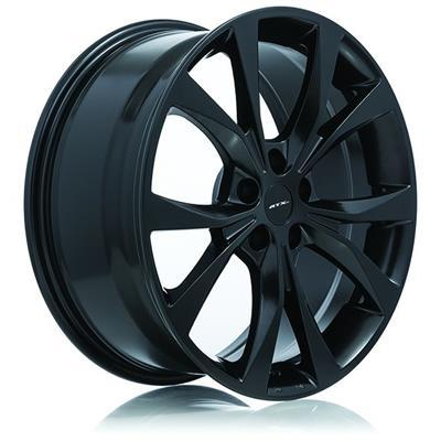 RTX OE Alloy Wheels FLINT 18X8 5-108 42P C63.4 SATIN BLACK - AutoPartsDistrict