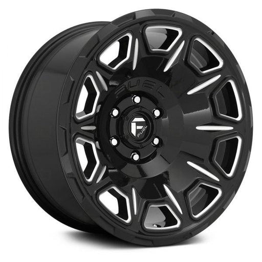 Fuel Custom Wheels FUEL® - D688 VENGEANCE 1PC Gloss Black with Milled Accents - AutoPartsDistrict