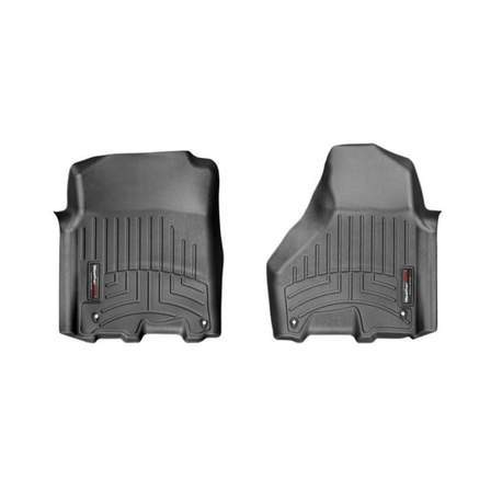 Weathertech Molded Floor Mats Weathertech - 444781 - Front FloorLiner Black RAM 1500/2500/3500 12-18 - AutoPartsDistrict