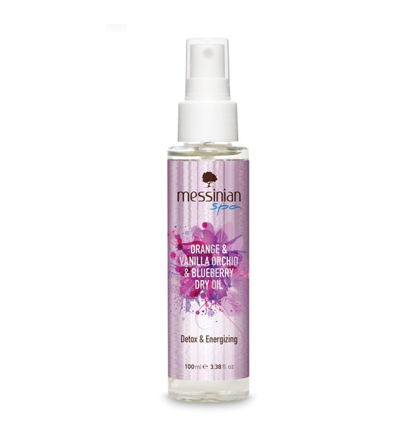 Messinian Spa Dry Oil Orange, Vanilla Orchid & Blueberry 100ml