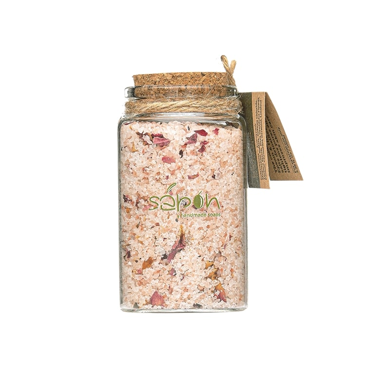 Detox Bath salts with rose scent  100ml