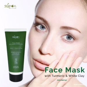 FACE MASK WITH TURMERIC & WHITE CLAY 50ML