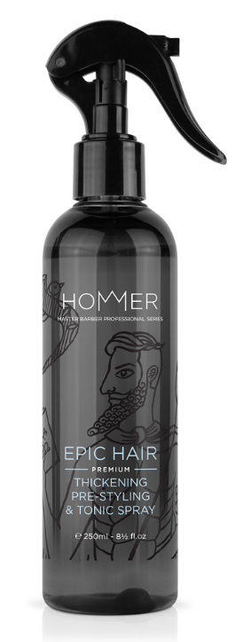 HOMMER 3-IN-1 HAIR THICKENING, PRE-STYLING & TONIC SPRAY 250 ML