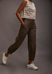 Chic baggy pants - Metallic brown