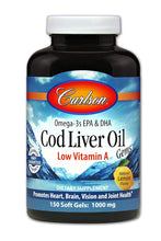 Load image into Gallery viewer, Carlson Labs Cod Liver Oil - 1000mg - 150 Softgels