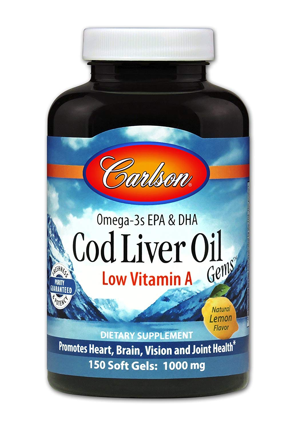 Carlson Labs Cod Liver Oil - 1000mg - 150 Softgels