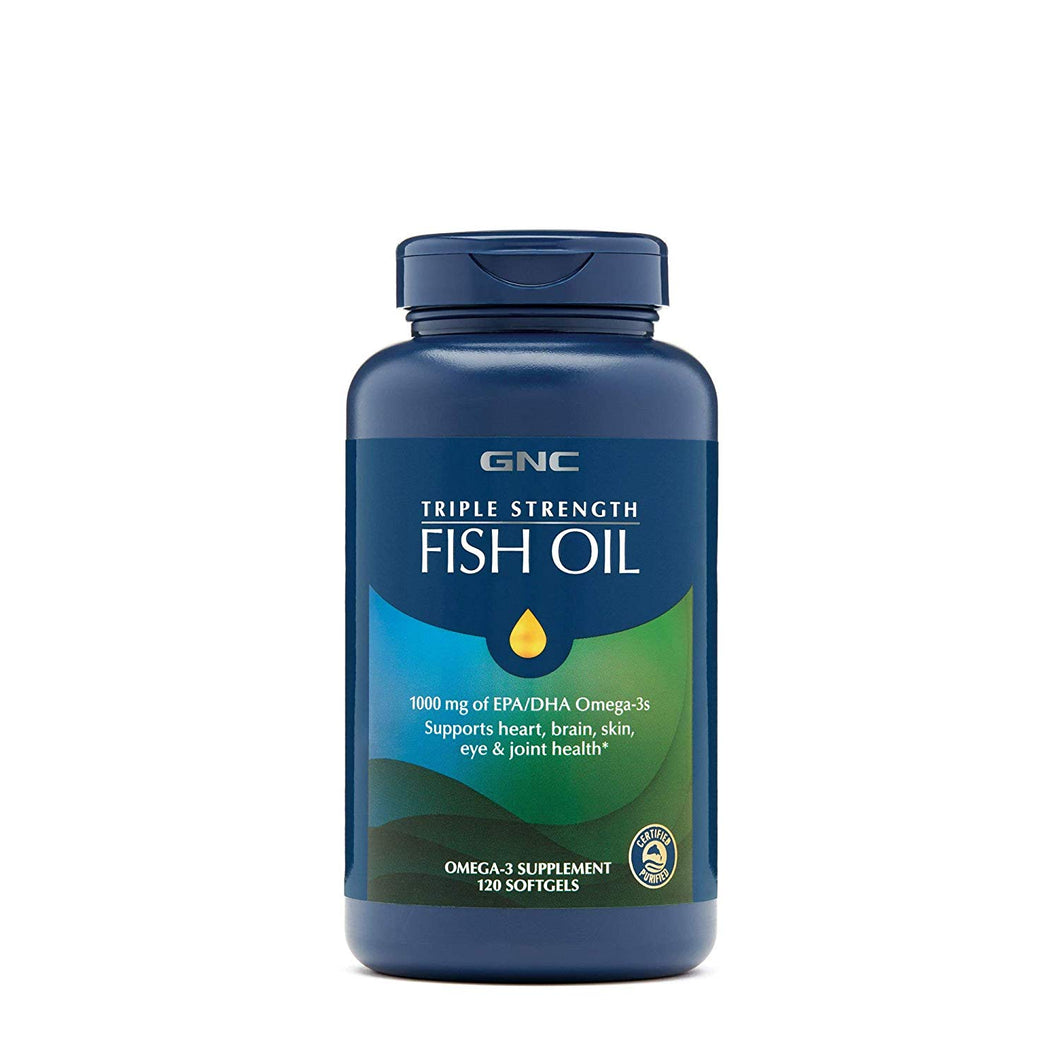 GNC Triple Strength Fish Oil - 120 Softgels