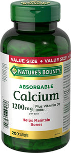 Nature's Bounty Calcium - 1200 mg - 200 Softgels