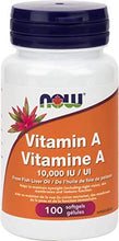 Load image into Gallery viewer, NOW Vitamin A - 10,000 IU - 100 Softgels