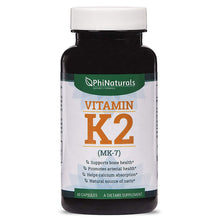 Load image into Gallery viewer, Phi Naturals Vitamin K2 - 100mcg - 60 Capsules