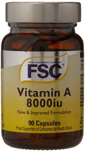 Load image into Gallery viewer, FSC Vitamin A - 8000IU - 90 Capsules