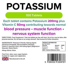 Load image into Gallery viewer, Lindens Potassium - 200mg - 100 Tablets