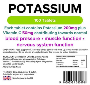 Lindens Potassium - 200mg - 100 Tablets