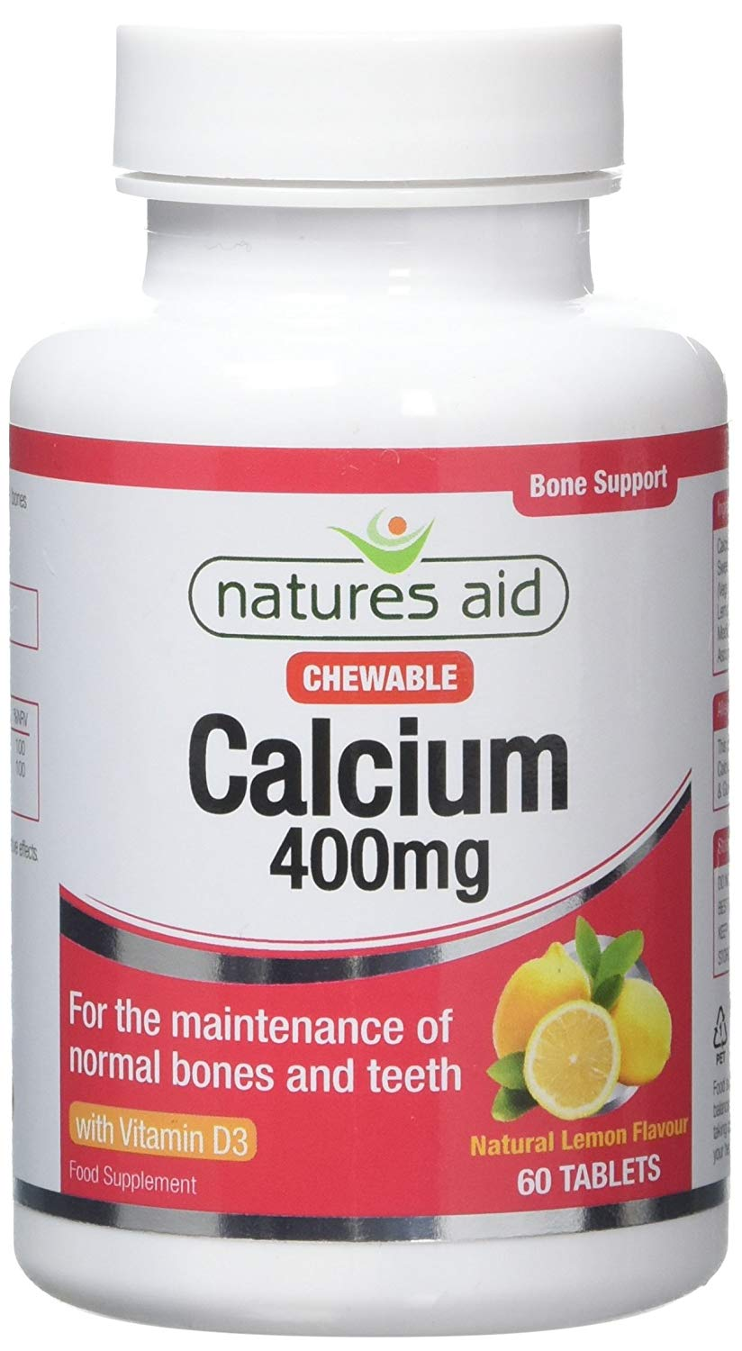 Natures Aid Chewable Calcium - 400mg - 60 Tablets