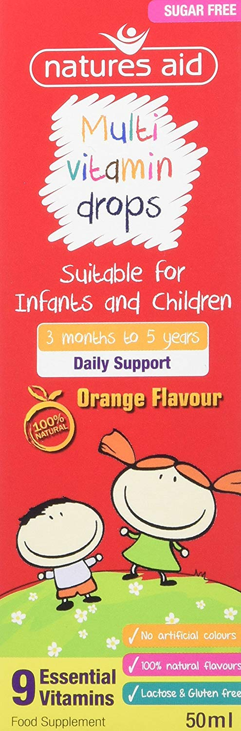 Natures Aid MultiVitamin Drops for Children - 50ml