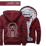 sweat shirt chaud viking odin couleur bordeau