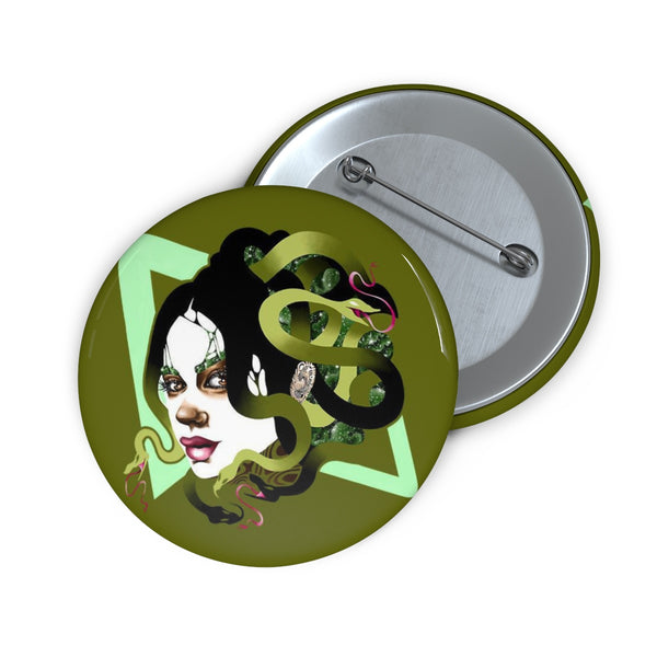 """Medusa"" Pin Button 