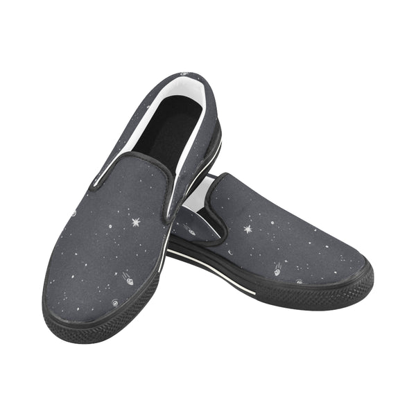 Galaxy Pattern Men's Slipons - GRAVEY