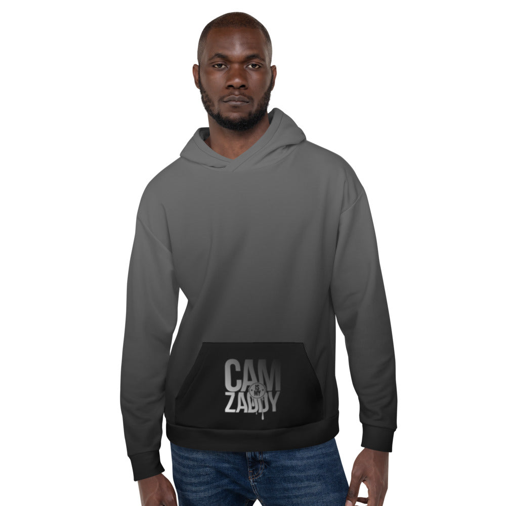CAM IS MY ZADDY Gradient Print Unisex Hoodie - Grey | Painkiller Cam