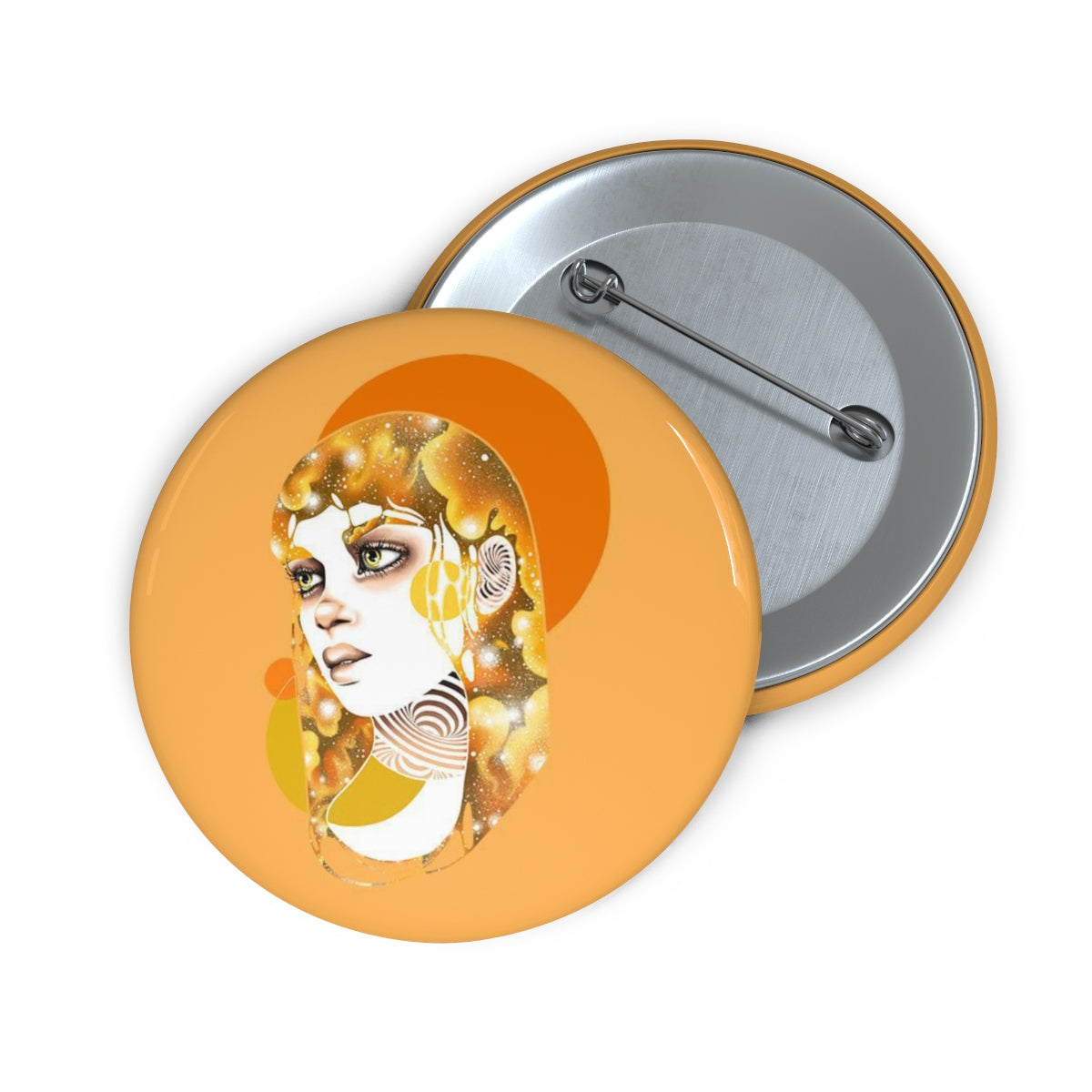 """Sun"" Pin Button 