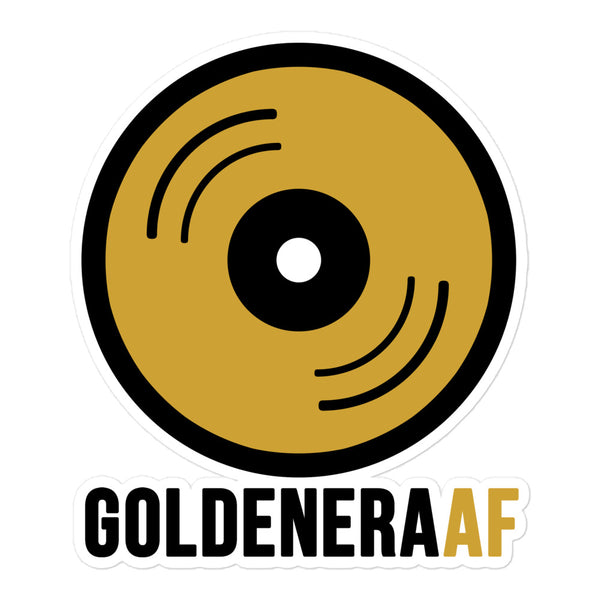 GoldenEra AF Gold Record Sticker