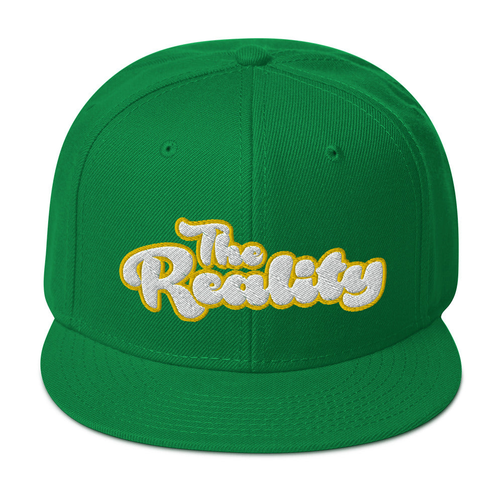 The Reality Script Logo Embroidery Snapback